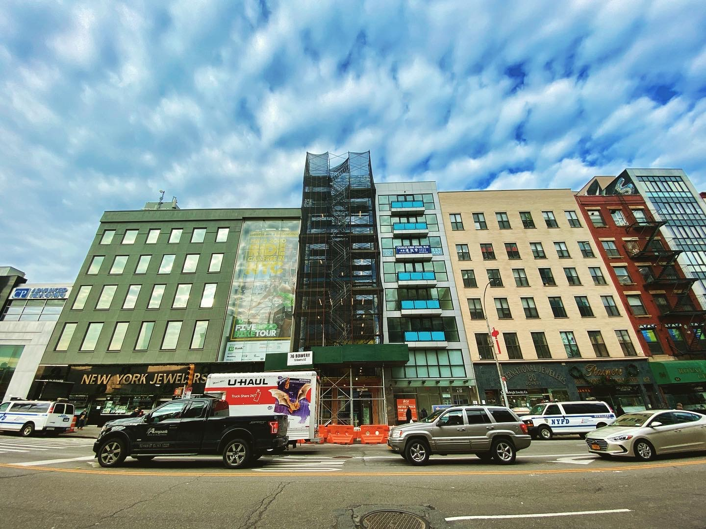 76 Bowery front elevation